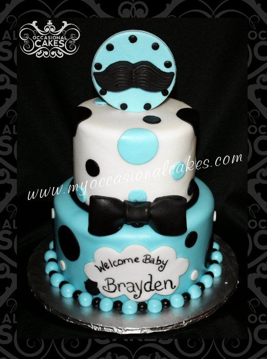 Little Man Baby Shower Cake - by OccasionalCakes @ CakesDecor.com - cake decorating website
