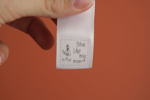 Best sewing label tutorial I've ever seen, from Sew Like My Mom. Thanks, Pal!