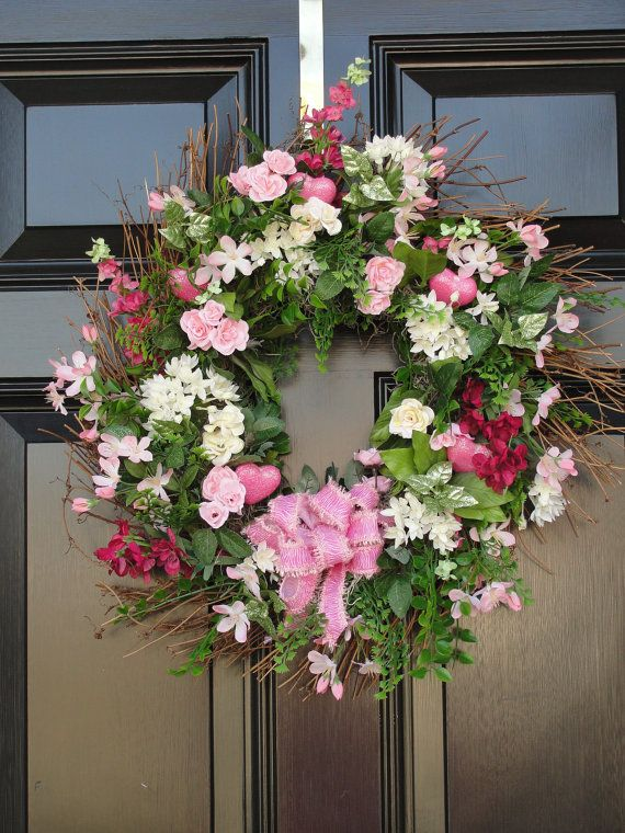 Spring Wreath MOTHERS DAY 10 off COUPON by FleursDeLaVie on Etsy, $75.95