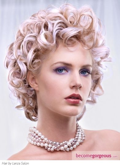 Pictures : Prom and Homecoming Hairstyles - Glam Curly Medium Hair Style http://janelistyle.com