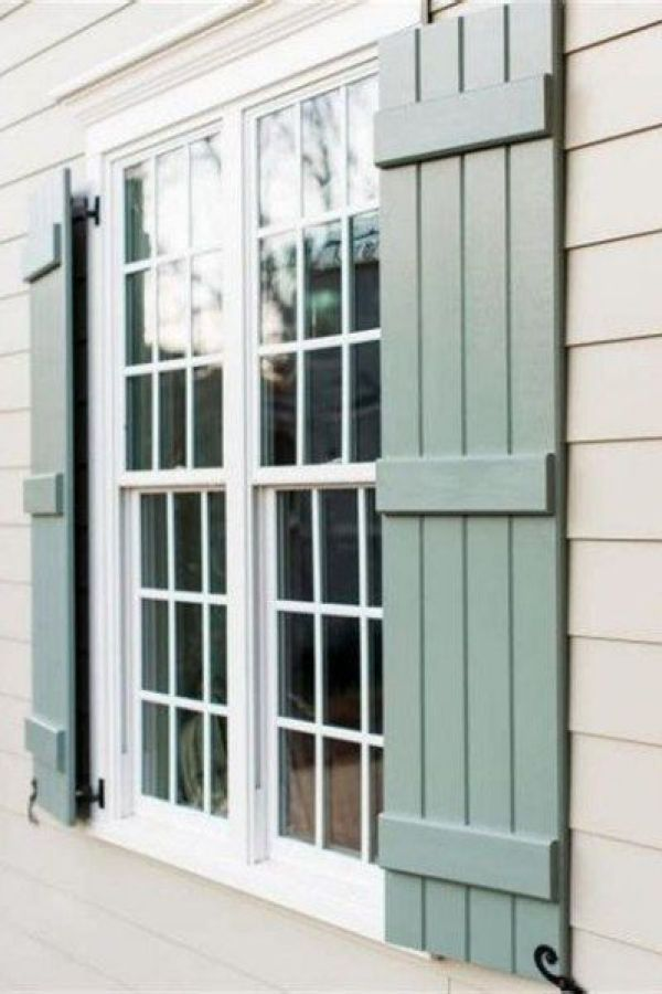 27 Awesome Exterior Window Shutter Design Ideas Window Shutters Exterior Cottage Shutters Shutters Exterior