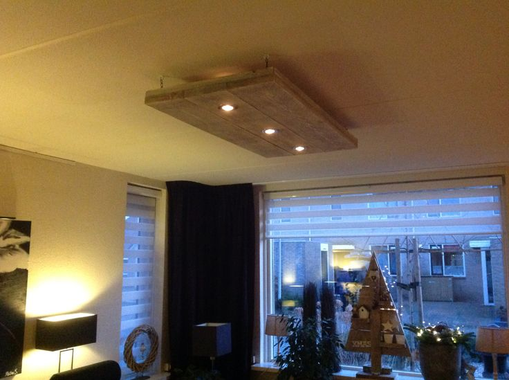 Steigerhouten plafondlamp