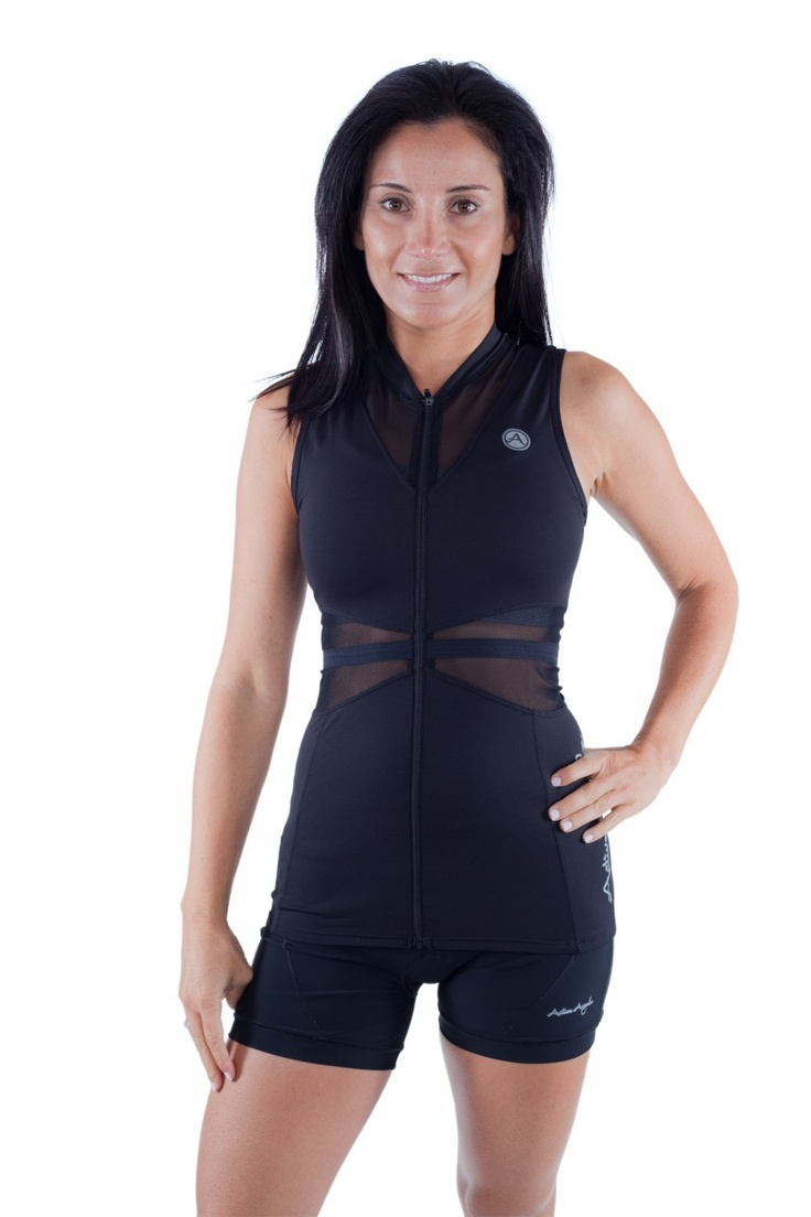 ACTIVE ANGELZ Bike Jersey, finally something I would wear on a date that's tough enough to handle my rides. Fashion Forward triathlon apparel, finally!