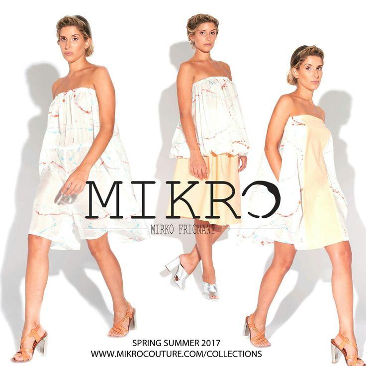 #happy to present #springsummer17 collection Ph Matteo Barsotti Stylist Claudia Pasquali Mua Beatrice Savi Model Letizia Dallasta See all collection on  www.mikrocouture.com/collection