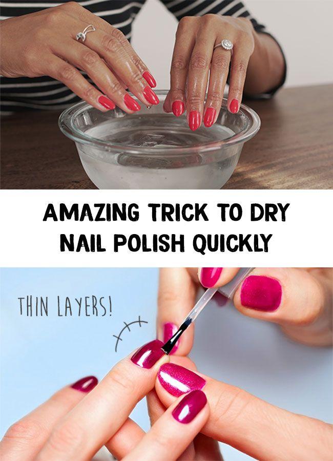 Nails Tricks Amazing Trick To Dry Nail Polish Quickly Dry Nails Dry Nail Polish Nail Polish