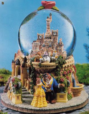 Disney Snowglobes Collectors Guide: Beauty and the Beast Castle Snowglobe