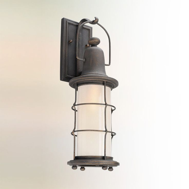 Vintage Nautical Lantern Outdoor Sconce - Small vintage_bronze