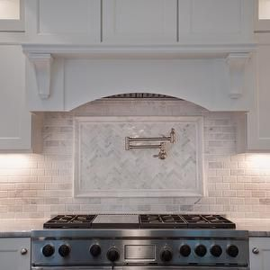 Super White Quartzite - Transitional - kitchen - Muralo Pain Morning Fog - Michelle Winick Design