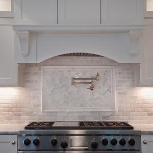Super White Quartzite - Transitional - kitchen - Muralo Pain Morning Fog - Michelle Winick Design