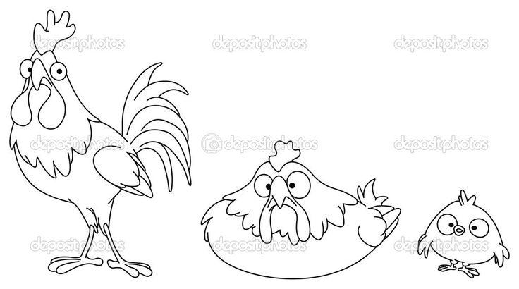 Семья изложил курица — стоковая иллюстрация #3831386