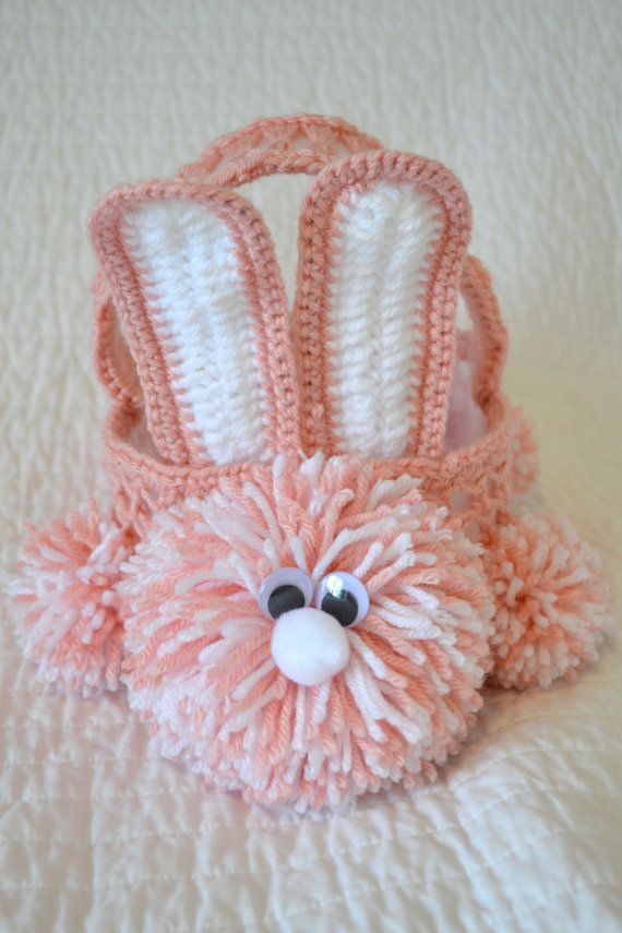 Crochet Easter bunny basket :)