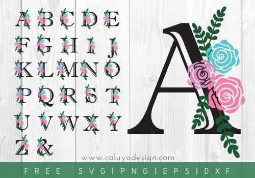 FREE floral letters SVG