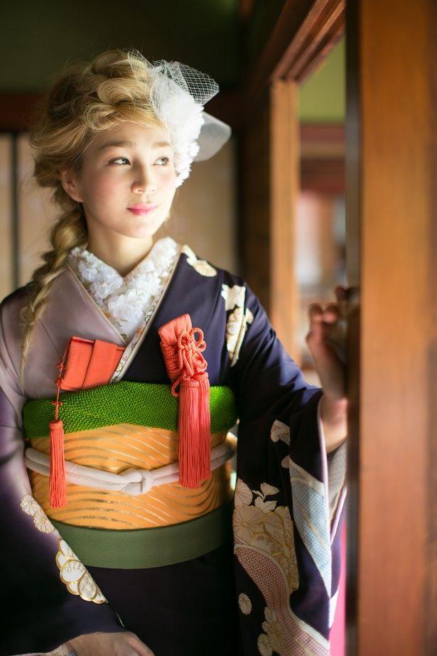 古代紫片身替波頭紋|くくる(CUCURU) 写真・フォトギャラリー|ザ・ウエディング