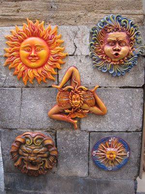 Pottery in Cefalu, Sicily.