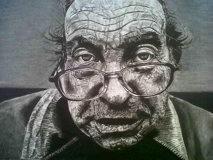 charcoal drawing by Nikki Paton