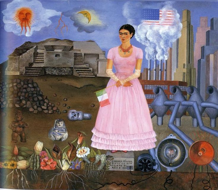 Frida Kahlo, Self-Portrait on the Border Line Between Mexico and the United States, 1932