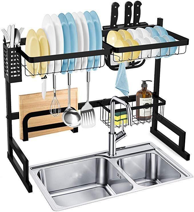 Hty Drain Rack Multi Function Dish Drying Rack Over Sink Display