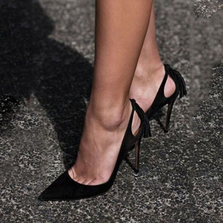 Shoespie Classy Black Pointed Toe Stiletto Heels