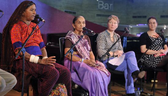 Our Becky Pants on a panel discussing Paying for Poverty at the WOW Festival, Southbank Centre, March 2013