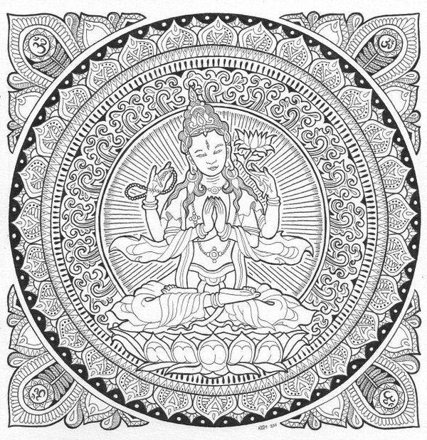 The 22 best images about BUDDHIST COLORING BOOKS on Pinterest ...