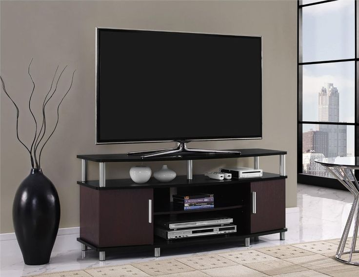 TV Stand 42 To 50-Inches Entertainment Unit DVD Video Game Organize Black Cherry #Altra #ContemporaryModernTransitional #TvStand #Furniture #LivingRoom #Home