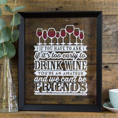 Wine Lover Papercut