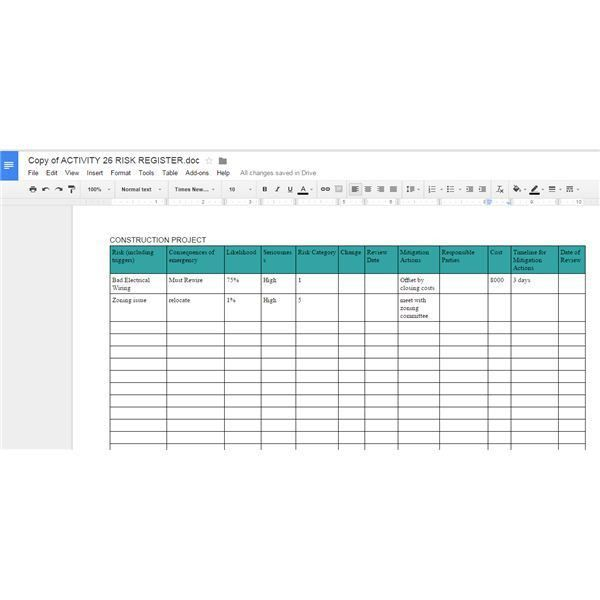 10 great google docs project management templates employment