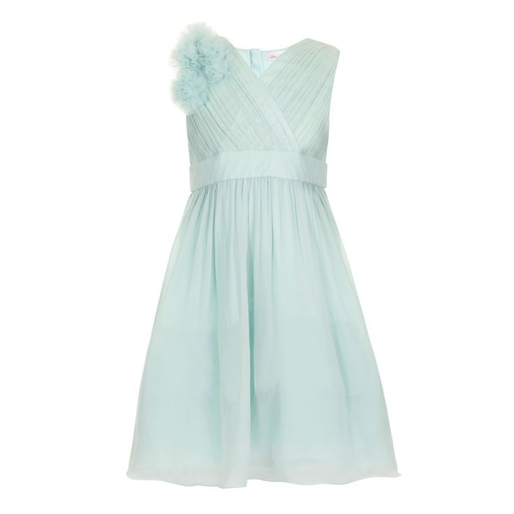 Little Misdress Sage chiffon shoulder detail party dress- at Debenhams.com