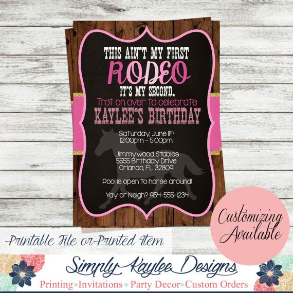 This aint my first rodeo Birthday Party by SimplyKayleeDesigns