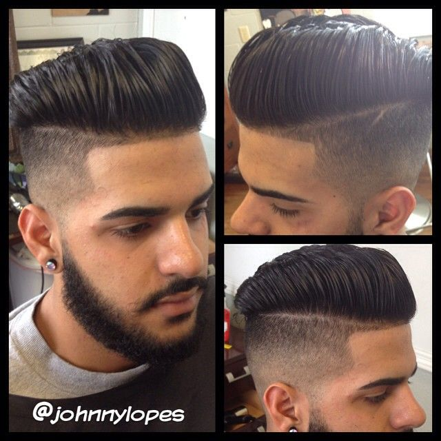 Welcome to #cigarcitybarbershop #pompadour #fade #beard #undercut…