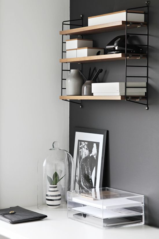 Via Stylizimo | String System | Home Office | Grey White Wood: