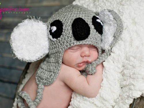 Koala Hat Knitting Pattern Free : Koala Baby Hat Pattern Koalas, Babies and Baby hat patterns