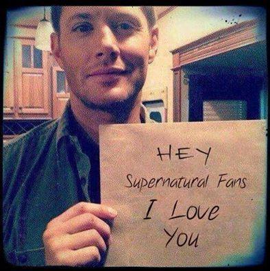 Supernatural fans. We love you more!! :)