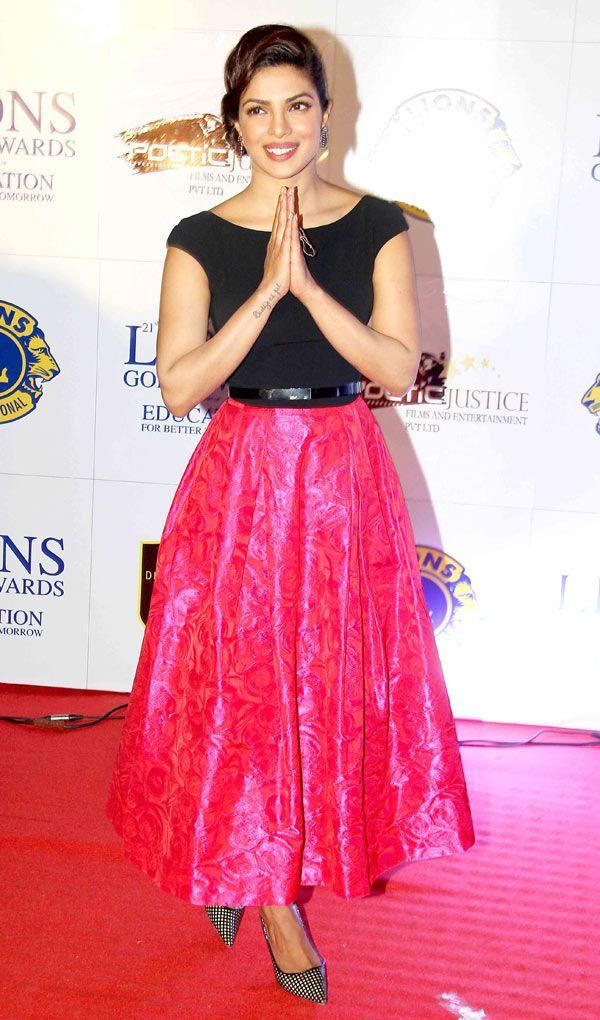 Priyanka Chopra at the 21st Lions Gold Awards. #Bollywood #Fashion #Style #Beauty