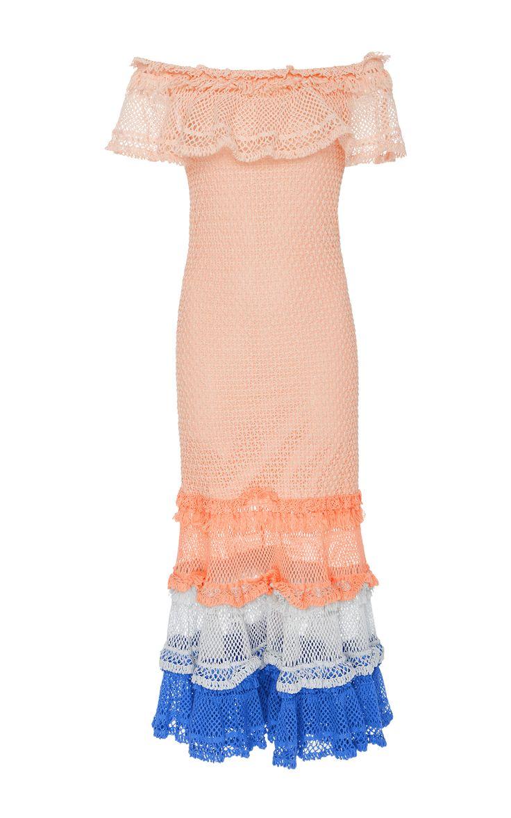 JONATHAN SIMKHAI Ruffled Stretch-Knit Stretch-Cotton Dress. #jonathansimkhai #cloth #dress