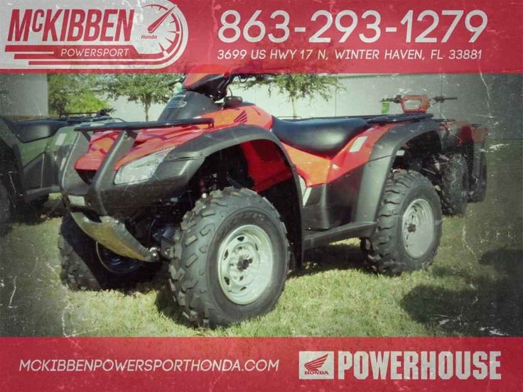 New 2017 Honda FourTrax Rincon ATVs For Sale in Florida. 2017 HONDA FourTrax Rincon, McKibben Powersport Honda is a family owned and operated dealership in Winter Haven, Florida. We are located at 3699 US HWY 17 N Winter Haven Fl, 33881 between US HWY 92 and Havendale Blvd. We proudly serve Polk county and the surrounding areas, to include Lakeland, Auburndale, Bartow, Kissimmee, Lake Alfred, and Sebring. We are a Honda Powerhouse Dealer and we represent the full line for Honda Powersports…