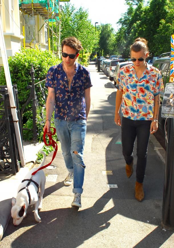 harry styles nick grimshaw ensemble proches potes amis relation gay adorables photos topman look tyle balade mick jagger vs battle sexy hot canon amitie one direction animateur radio bbd radio 1 fans fan2 directioners