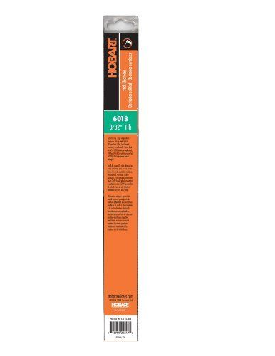 Hobart H117119-RDP 6013 Stick Welding Electrode, 1/16-Inch Size: 1/16-Inch Model: H117119-RDP. Use in all positions, on carbon steel. 60,000 PSI tensile strength. Runs on AC or DCEP (reverse) polarity or DCEN (straight) polarity.