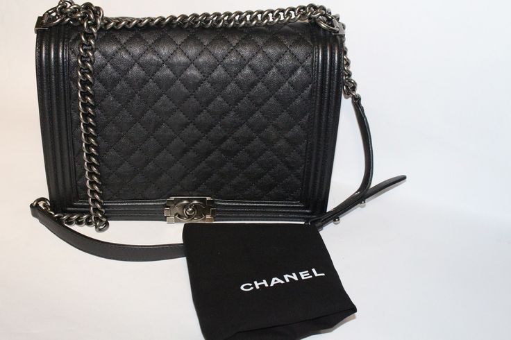 SunandBlu.com - Chanel Chanel Caviar Jumbo Le Boy in Black with Flap, $4,700.00 (http://www.sunandblu.com/chanel-chanel-caviar-jumbo-le-boy-in-black-with-flap/)