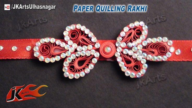 DIY How to make Paper Quilling rakhi for Raksha Bandhan -  JK Arts 574