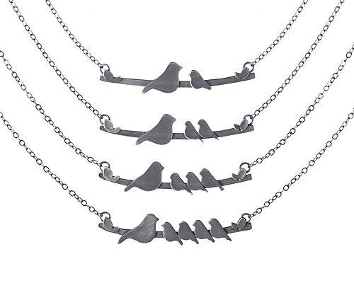 jewlery bird mother: Mothers Day Gifts, Mothersday, Mothers Nestl, Gifts Ideas, Birds Necklaces, Bird Necklace, Jewelry, Baby, Nestl Birds