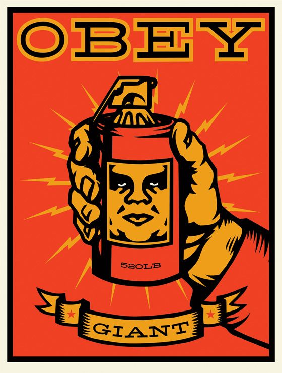 obey: Inspiration, Street Art, Illustration, Obey Shepard Fairey, Grenade, Fairey Obey Giant Spray, Shepard Fairey Obey Giant, Design