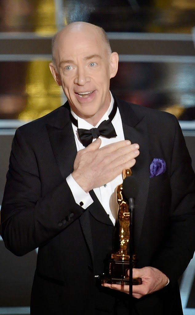 """Best Supporting Actor , J.K. Simmons for his role in the movie """" Whiplash"""" at the 87th annual academy awards, 2015"""