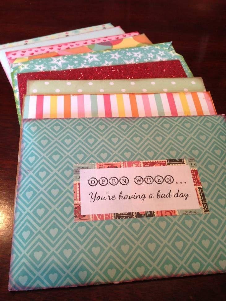 Cadeau DIY - Lettres à ouvrir quand...