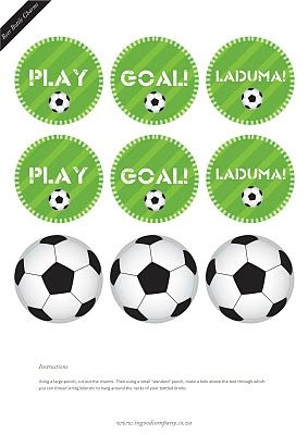 FREE soccer cupcake toppers and free soccer party printables