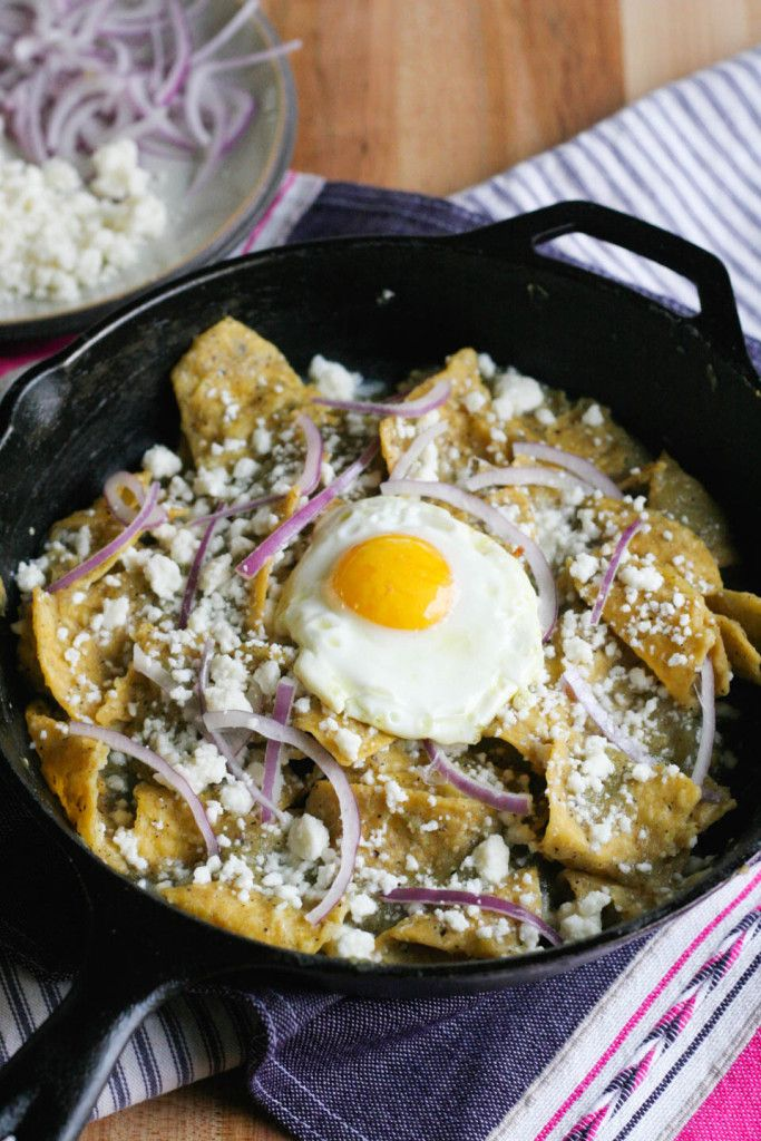 Easy Chilaquiles Verdes from @notjustbaked