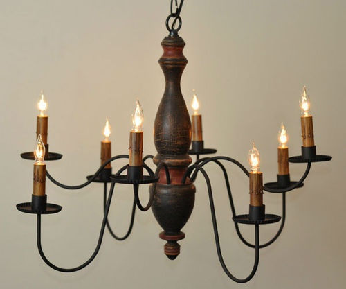 Arlington 8 Arm Wooden Chandelier Light
