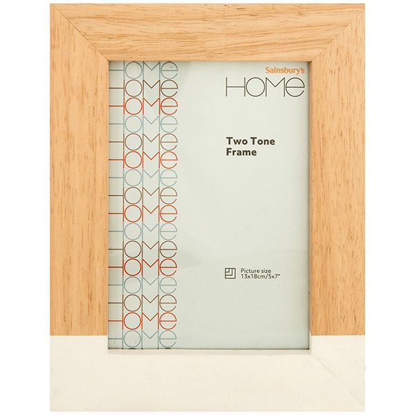 Image for Sainsbury's Home Two Tone Photo Frame 5x7 from Sainsbury's