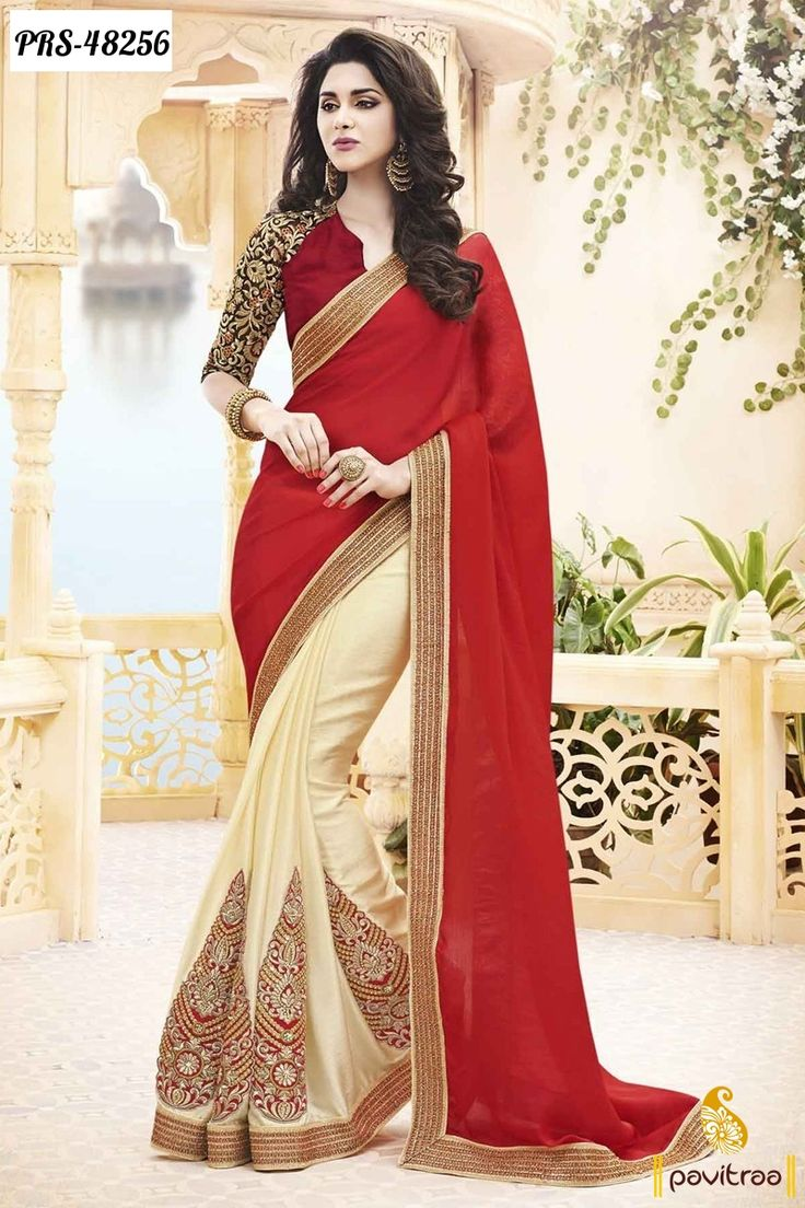 red-chiffon-designer-saree-
