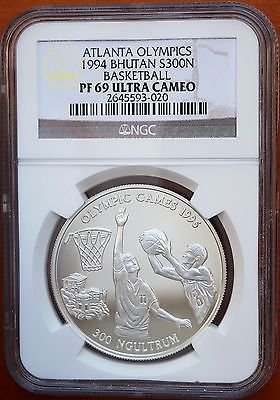 1994 bhutan 300 ngultrums silver #proof #atlanta olympics #basketball ngc pf69 uc,  View more on the LINK: http://www.zeppy.io/product/gb/2/381142991989/